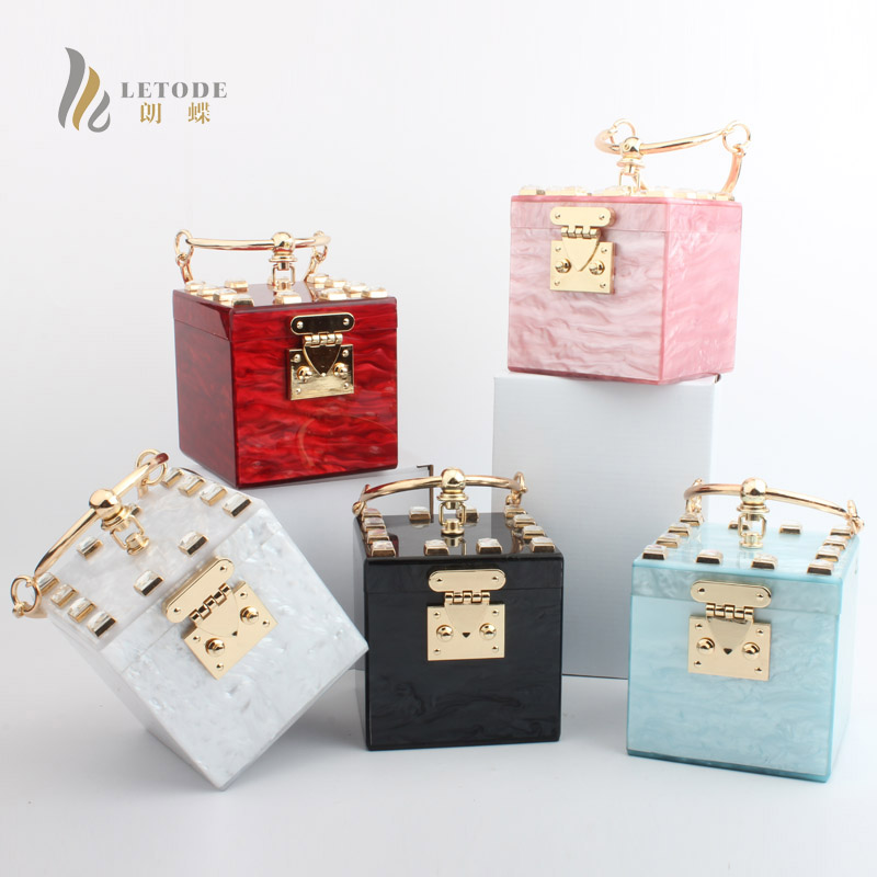 Brand Travel Purse Acrylic Stone Totes Prom Evening Bag Clutch Wallet Fashion Women Handbags Party Day clutches Wedding Bags Top