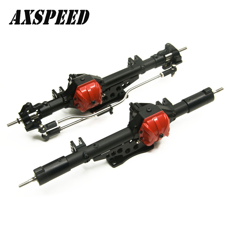 1Set 1/10 Axial Wraith Alloy Aluminum Axle Set Front + Rear RC Rock Assembled Axles High Quality Metal Axle axle cam swaybar holder set pro 3 hpi a405