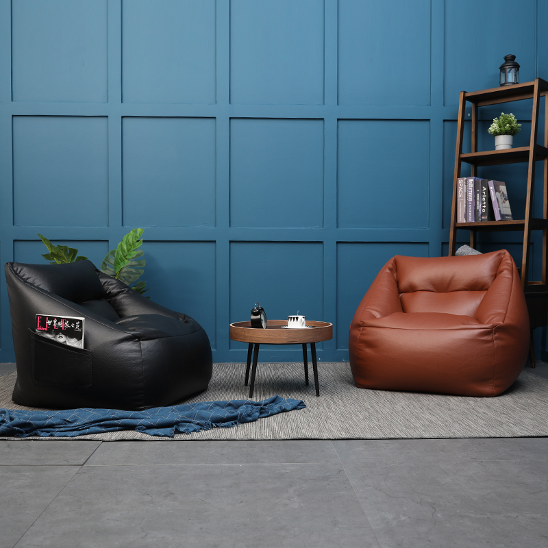 US $405.0 |bean bag sofa chair with filler relax sofa with ottoman  microfiber artificial leather bean bag pouf puff couch Lazy Tatami-in Bean  Bag ...