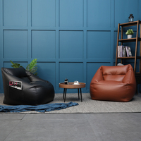 bean bag sofa chair with filler relax sofa with ottoman microfiber artificial leather bean bag pouf puff couch Lazy Tatami