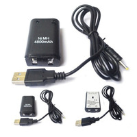 Pack 2 batteries and charging cable for BF MW3 Xbox 360 controllers
