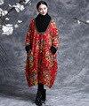 Зима пальто, красота мира - зима в национальный ветер печать без тары женское толстый тёплый пальто