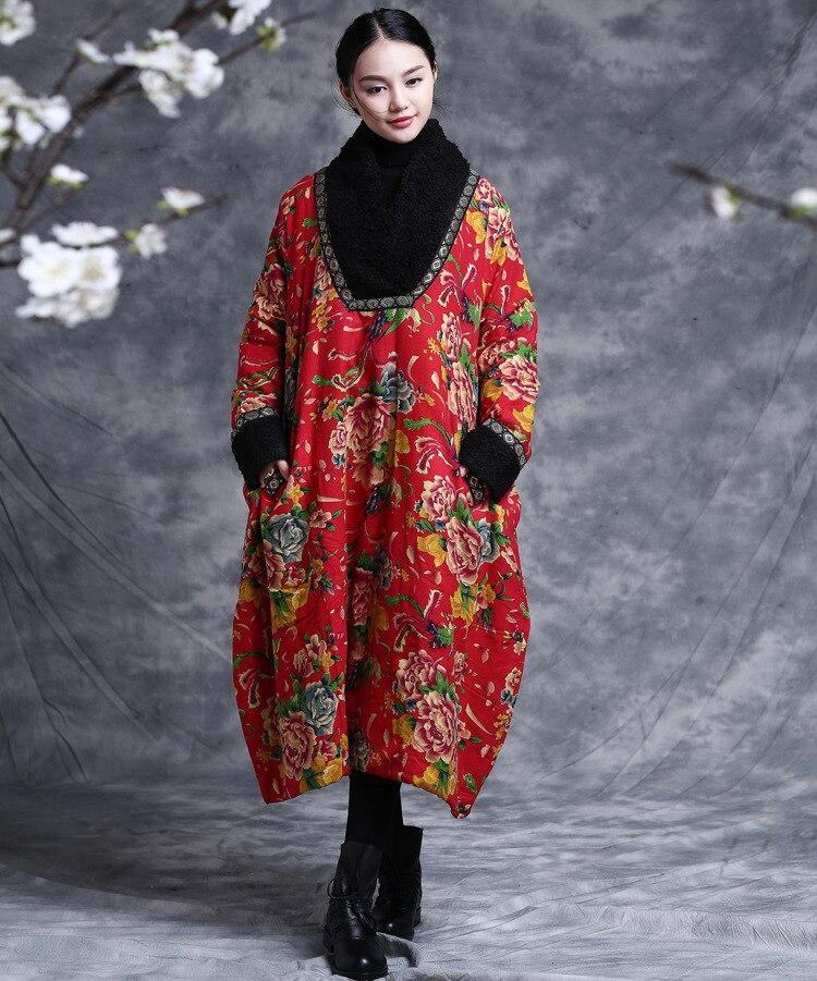 Beauty world - 2015 winter the original national wind printing plus size loose women's winter coat thick warm coat national beauty tian xiang lighting 8128