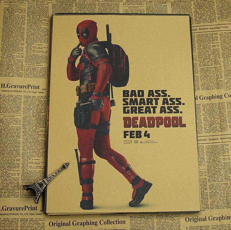Deadpool Poster / Marvel superhjälte dekoration målning - Heminredning - Foto 5