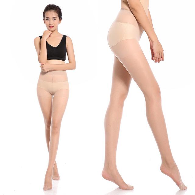 2019 iurstar mallas de nailon elásticas para chicas ultrafinas mujeres Dummer 15D medias sólidas negras señora Pantyhose medias de mujer