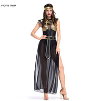 Sexy Woman Egyptian Goddess Queen Costume Female Halloween Cleopatra Cosplay Carnival Purim Masquerade Nightclub Bar party dress