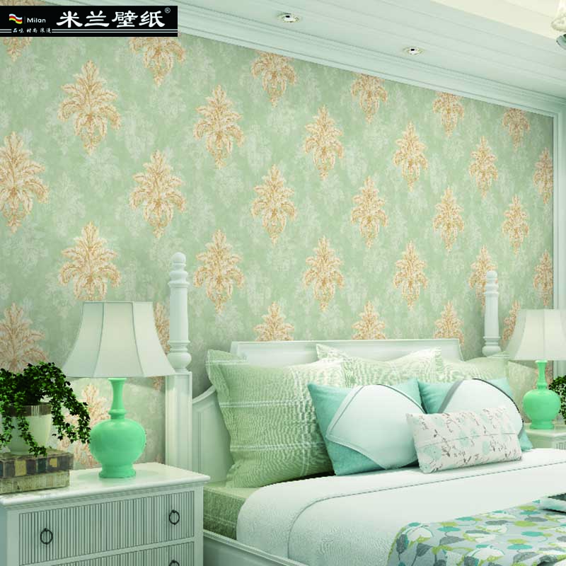 MILAN 2018 fashion countryside style wallpaper leaf 3d wall paper for living room high quality non-woven fabric wallpapers roll english wallpaper roll for baby room lovely hand painted wallpapers children wall paper mural non woven wallpapers for boy room