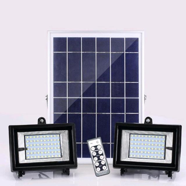 3PCS 30led 60led 80led 100led Solar Power LED Flood Light Solar Panel +2PCS Led Flood Lamp Solar LED Outdoor Garden Lighting