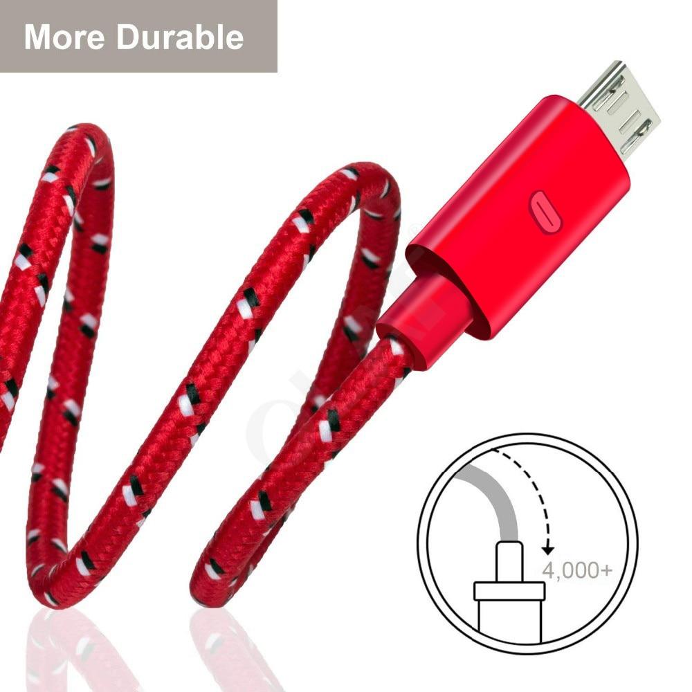 Кабель Micro USB OLAF с нейлоновой оплеткой, быстрое зарядное устройство, USB шнур для Samsung Xiaomi Redmi Huawei LG microusb, кабели для телефонов Android