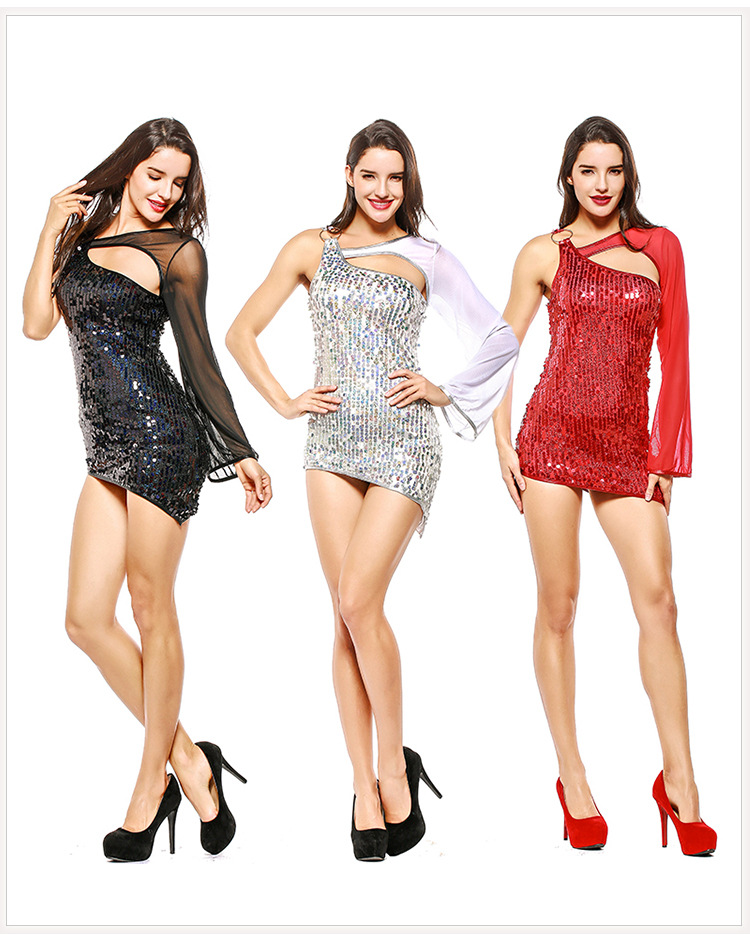 2018 Mini Bodycon Draped Slim Club Sequins Dress Sexy Elegant femme Slip Mini Erotic Dress Party Night Club Tights Porn Erotic
