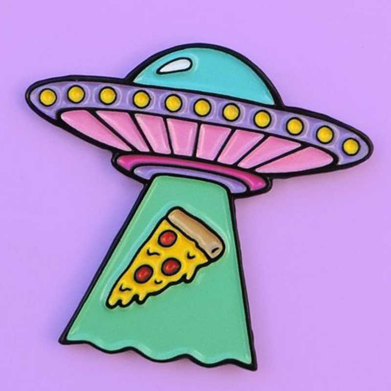 Ufo pizza pin