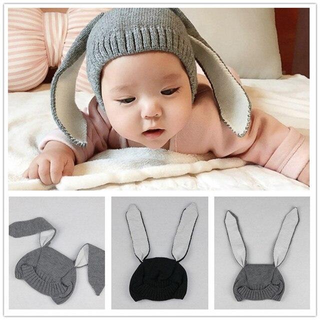 Orejas de conejo lindo bebé capsula Niñas Niños trajes sombreros ...