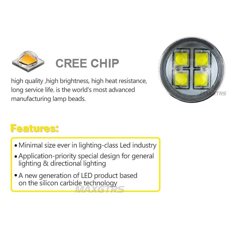 2x H8 H11 9005 9006 H16 CREE Chip LED Vit / Röd / Gul Bil dimma - Bilbelysning - Foto 5