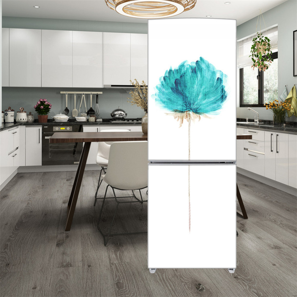 DIY Refrigerator Removable Sticker Scratch-proof Soil-release Oilproof Refrigerator Protector Stickers 58*180/90x180cm