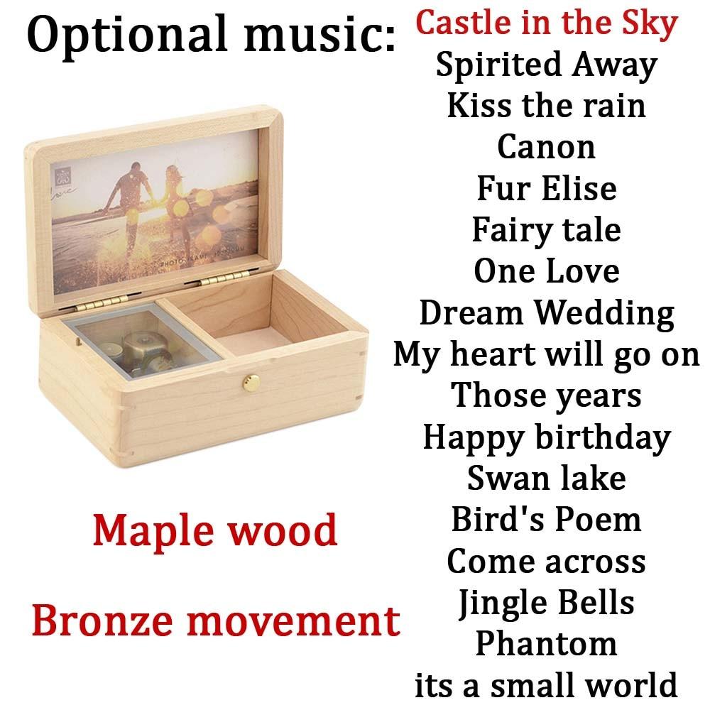 Sinzyo Handmade Wooden You are My Sunshine Music Box Birthday Gift for Christmas//Birthday boxs