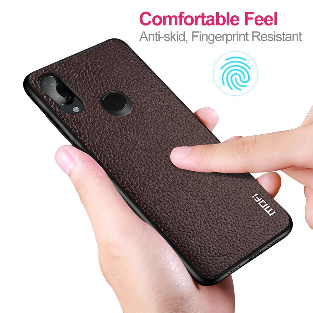 Купить с кэшбэком For Xiaomi Redmi Note 7 Case Cover For Redmi Note 7 Pro Case MOFi Silicone Shockproof Case Capas Original PU Leather Folio Coque