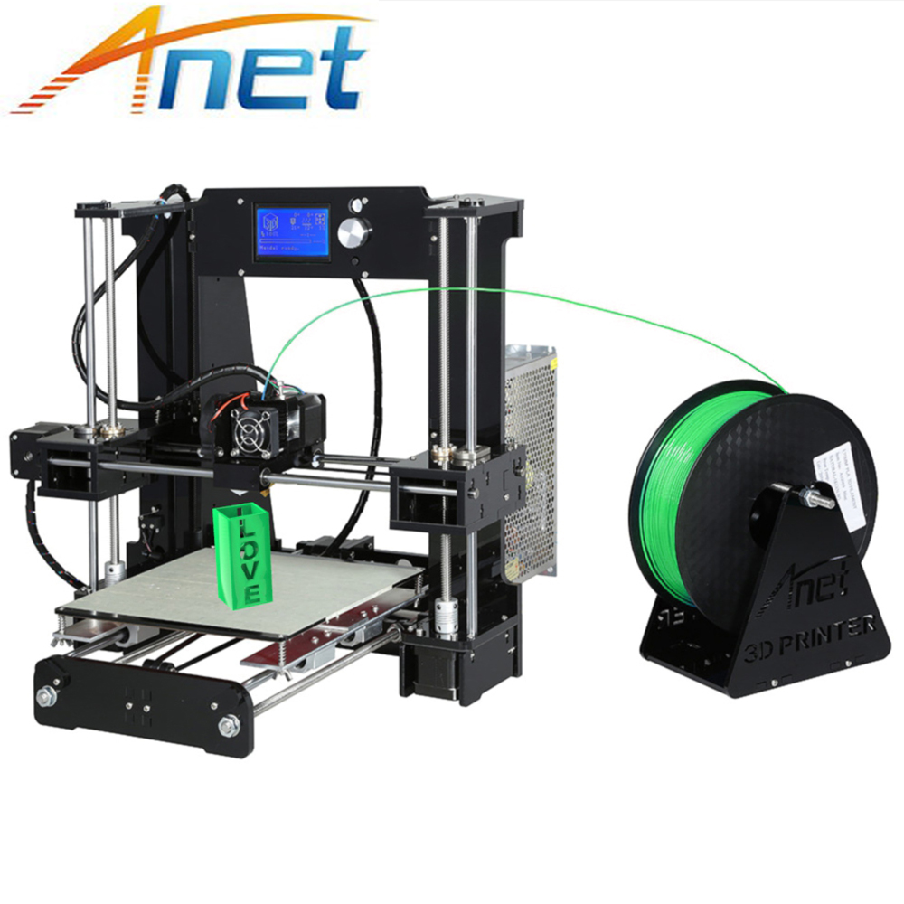 Newest Anet Normal&Autolevel A6 3D Printer Kit Reprap i3 DIY with Aluminium Hotbed & 10M Filament 16G SD Card & LCD & Tools anet a6 normal