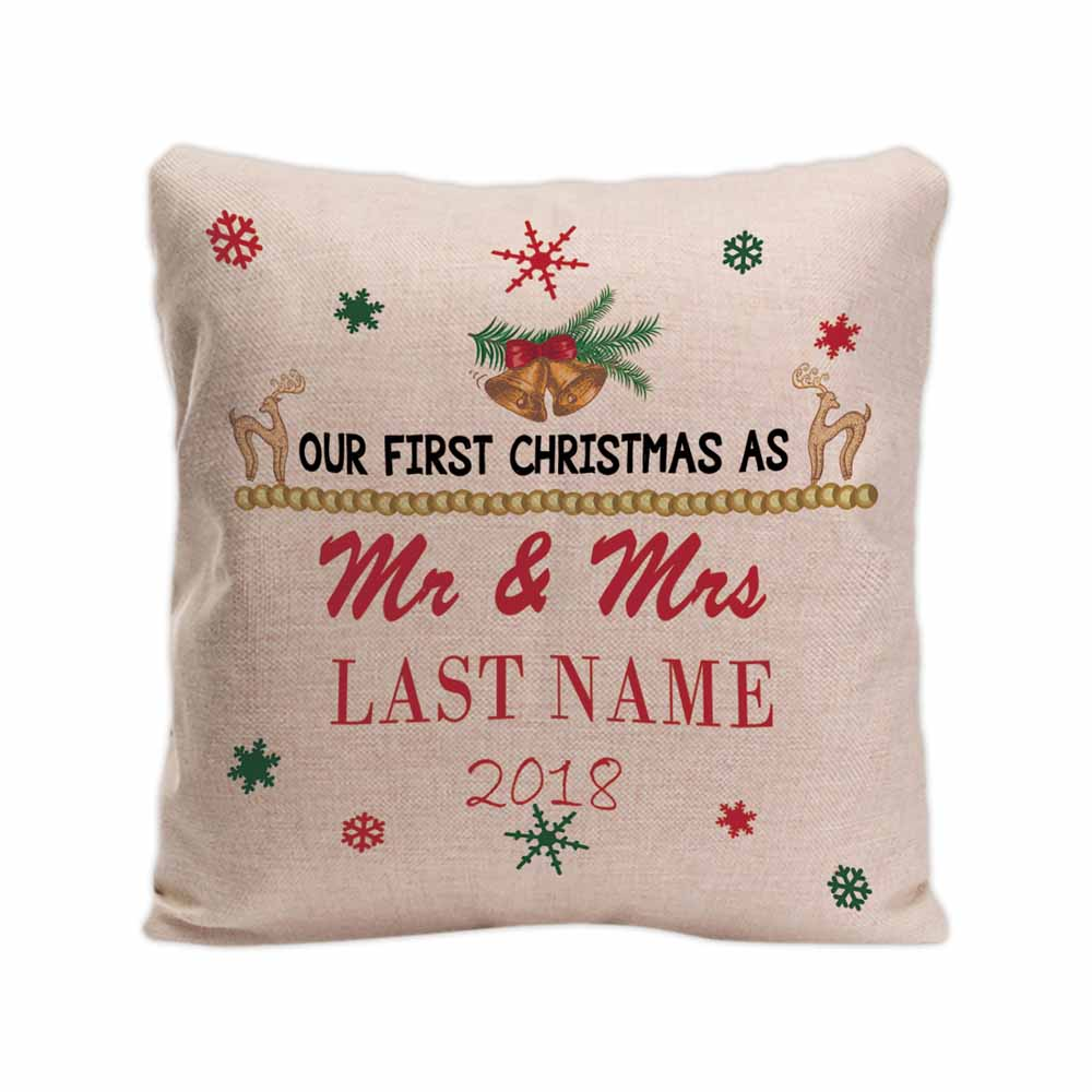 Personalized Couple Names Decorative Throw Pillow Case Ours First ...
