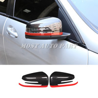 Carbon Fiber Look Rearview Mirror Cover For Benz A B CLA GLA W176 W246 C117 X156 2013 2018