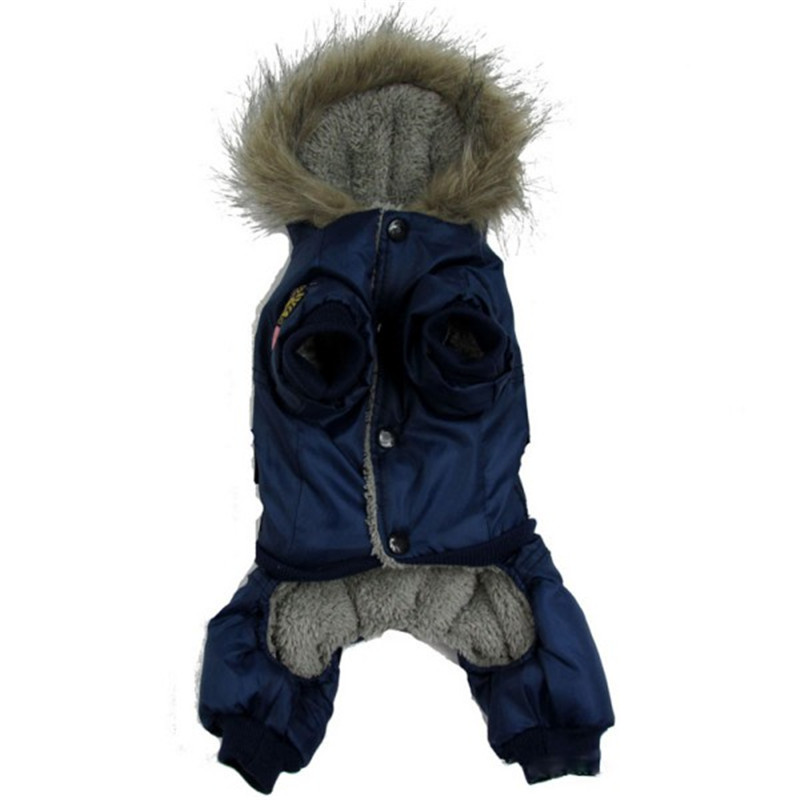 Dog Puppy Winter Jacket Coat USA AIR FORCE Winter Clothes Pets Animals Cat Hoody Warm Jumpsuit Pants Apparel