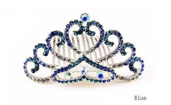 ZH0061 IVY Store Silver-plated color wedding bride hair accessories rhinestone crown (Min Mix Order $10)