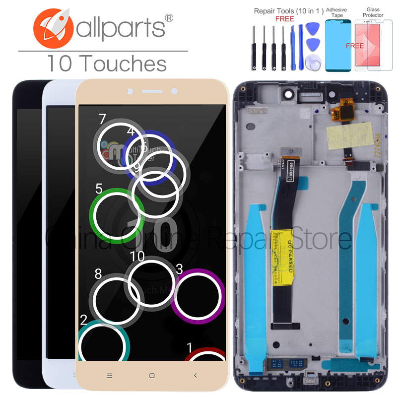 10 Touches Original For XIAOMI Redmi 4X LCD Display Touch Screen Assembly with Frame Global Display For XIAOMI Redmi 4X LCD Pro