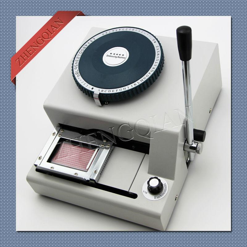 Manual pvc card press machine 68 characters