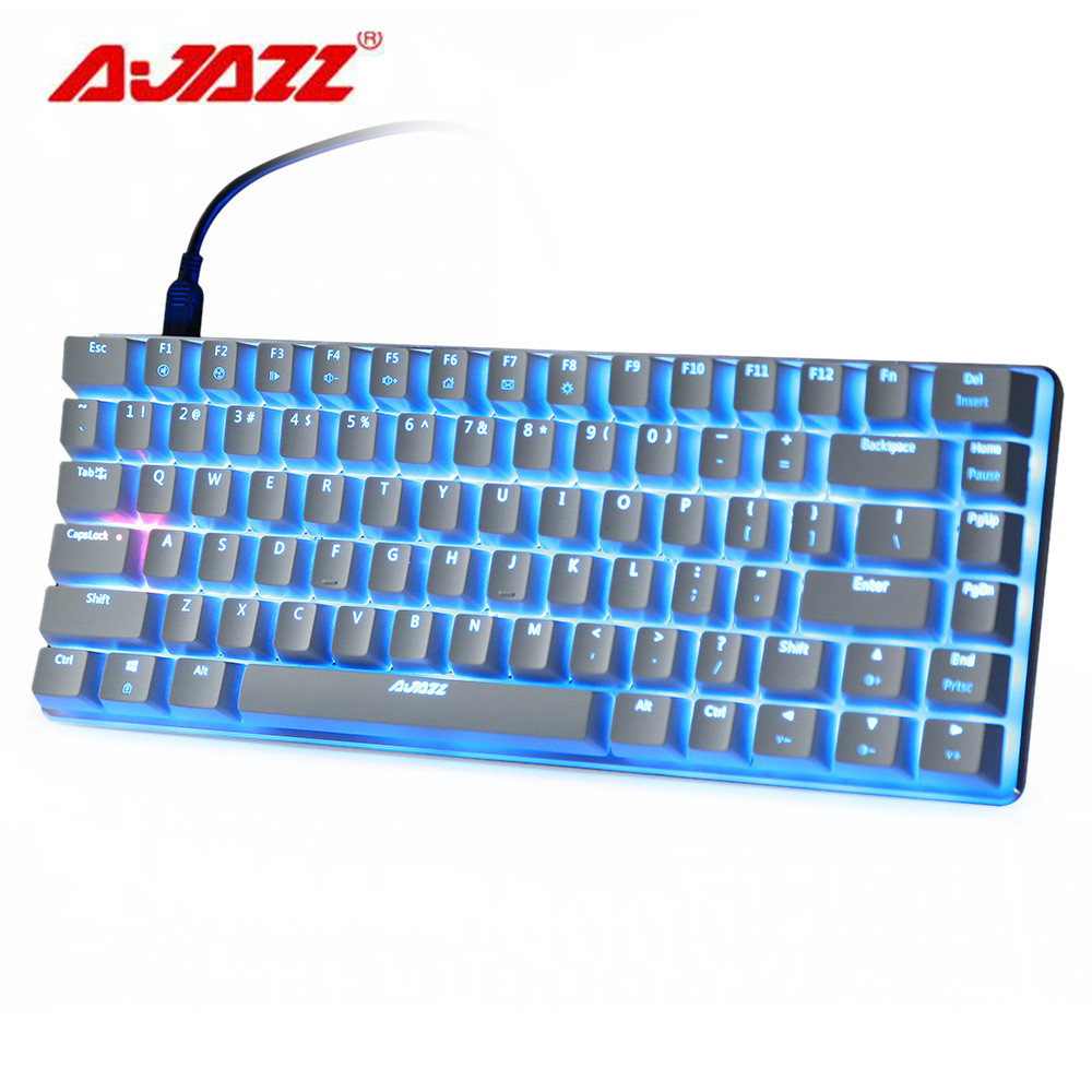 Ajazz AK33 Blue Switch Backlight Mechaincal Gaming Keyboard 82 Keys Blue / Black Switch Backlight Wired Keyboards for Laptop