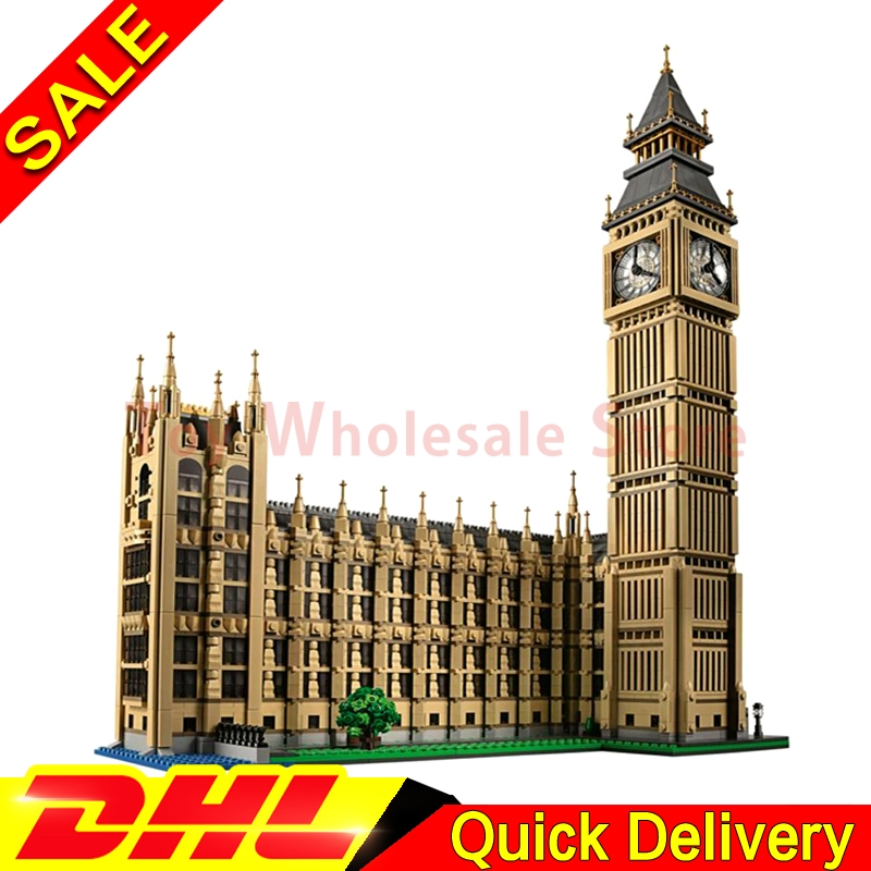 LEPIN 17005 4163Pcs City  Big Ben Model Building Kit Set Blocks Bricks Children Toy Gift lepins Toys lone 10253 lepin 02012 city deepwater exploration vessel 60095 building blocks policeman toys children compatible with lego gift kid sets