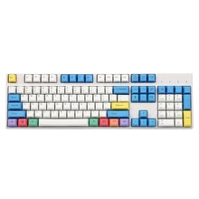 YMDK 108 Key Cherry Profile ANSI Laser Engraved PBT Chalk Keyset Keycap For Cherry MX Switches Mechanical Keyboard