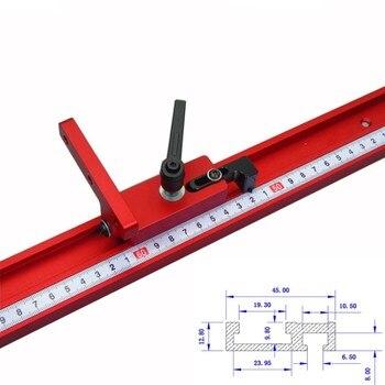 Model 45 Chute Aluminium Alloy T-Trek Kayu Standar Mitra Track Berhenti Woodworking Alat untuk Kerajinan Kayu Meja Kerja
