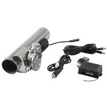 2/2.5/3inch exhaust pipe stainless steel electrically controlled valve variable sound remote control variable valve Exhaust pipe rastp exhaust control valve set with vacuum actuator cutout 3 0 76mm pipe close style with wireless remote controller rs bov041