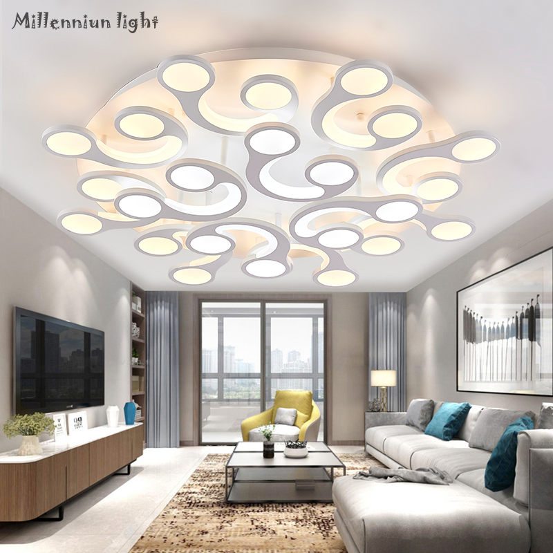 Contemporary ceiling living room lighting for room Round Acrylic bedroom fixture led AC110 260 indoor Chandelier Ceiling Fixture