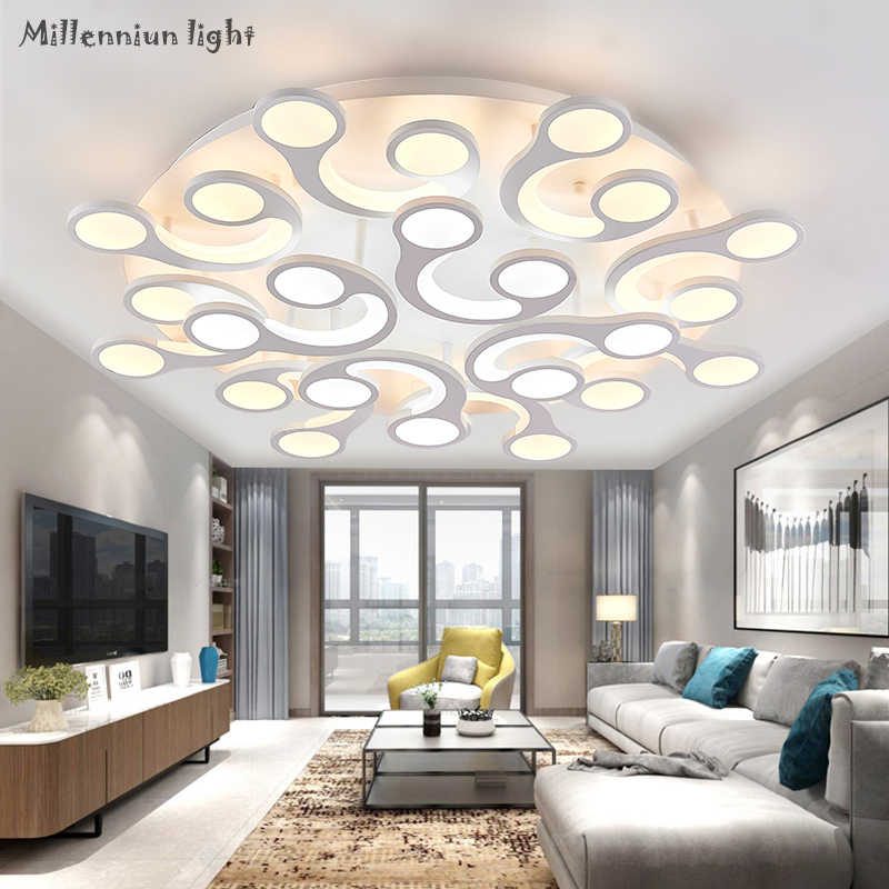 Contemporary Ceiling Living Room Lighting For Round Acrylic Bedroom Fixture Led Ac110 260 Indoor Chandelier