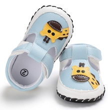 Fashion Newborn Baby Boys Shoes Cartoon Giraffes Print Cute Spring&Summer Boys Girls Shoes First Walkers 0-18M