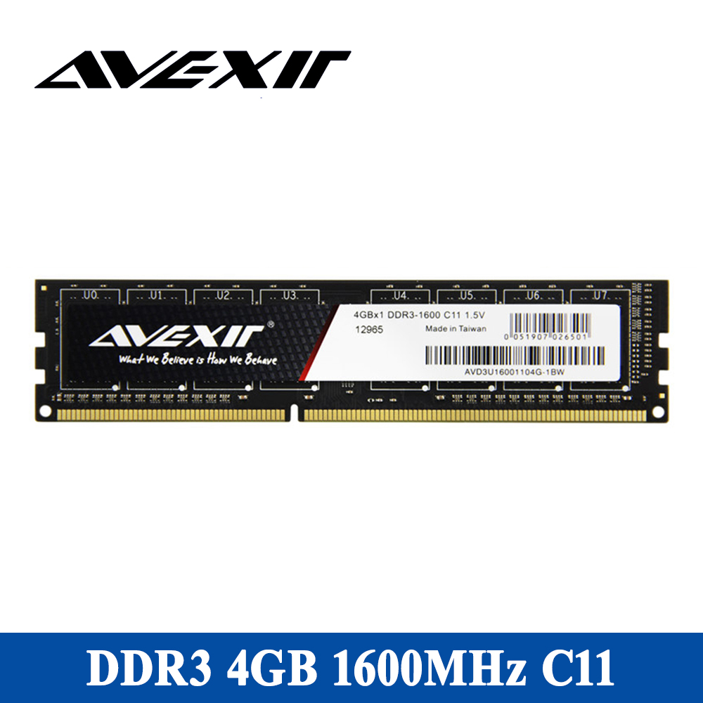 AVEXIR RAM DDR3 4GB/8GB Memory Frequency 1333/1600MHz 1.5V Desktop memory Interface Type 240pin 11-11-11-28 CL=11 Single RAMs