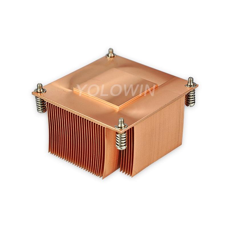 CPU radiator Intel CPU fan silent radiator Pure Copper Heat Sink skiving fin heatsink E8-01