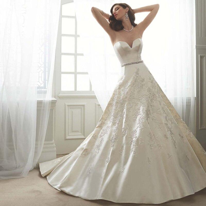 Good Quality Heavy Wedding Dress Satin Women Bridal Ball