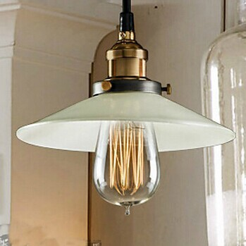 Retro American Loft Style  Edison Bulb Vintage Industrial Pendant  Lamps With 1 Light,For Home Lightings,Bulb Included 40w american retro loft style edison