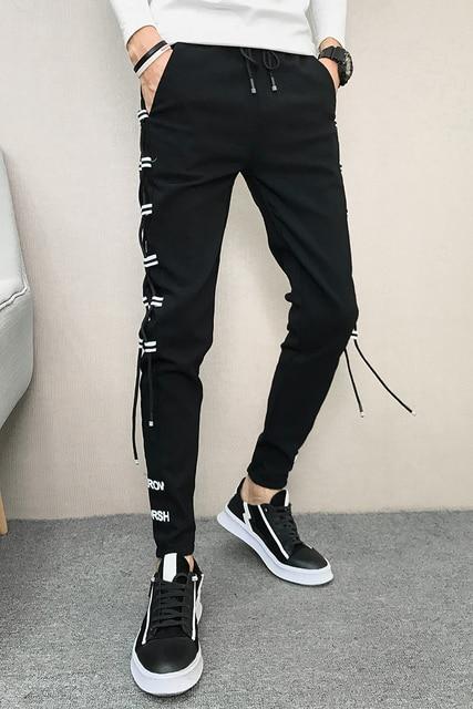 Korean Summer Men Pants Brand New Streetwear Harem Pants Men Slim Fit Hip Hop All Match Casual Trousers Men Clothes 2020 33-28 5