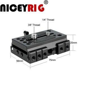 """Image 2 - NICEYRIG سريعة الإصدار بلايت ل كما ستستهدف كاميرا ترايبود اللوح الأساس كما ستستهدف السكك الحديدية DSLR 1/4 """"3/8"""" المسمار هيكل قفصي الشكل للكاميرا تزوير"""