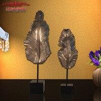Домашняя европейские классические украшения Смола, листья номер домашнего декора аксессуаров