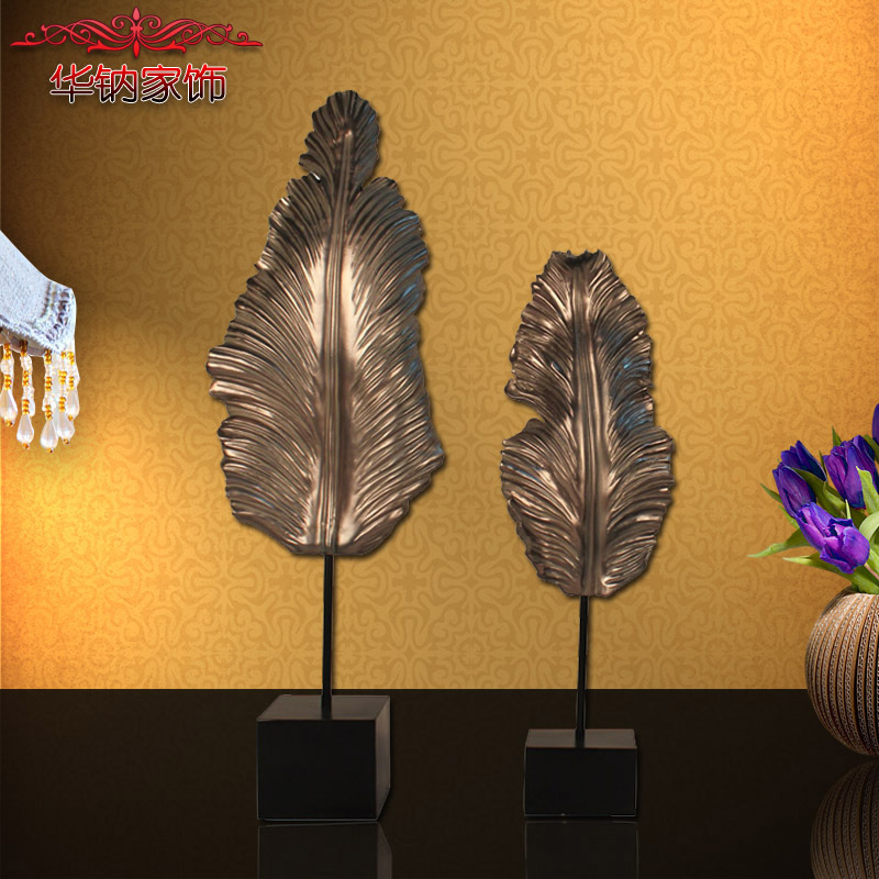 Home Furnishing European classical decoration decoration resin leaves room home decoration accessories