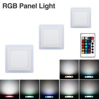 Led Panel Light New 6W 9W 18W 24W Concealed Dual Color LED Panel Lamp Cool White