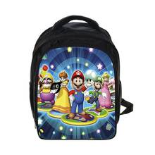 Cartoon Girls' Boys' School Backpack Super Mario Children Daypack Students Book Bag Satchel Bag with Pencil Case For Kids