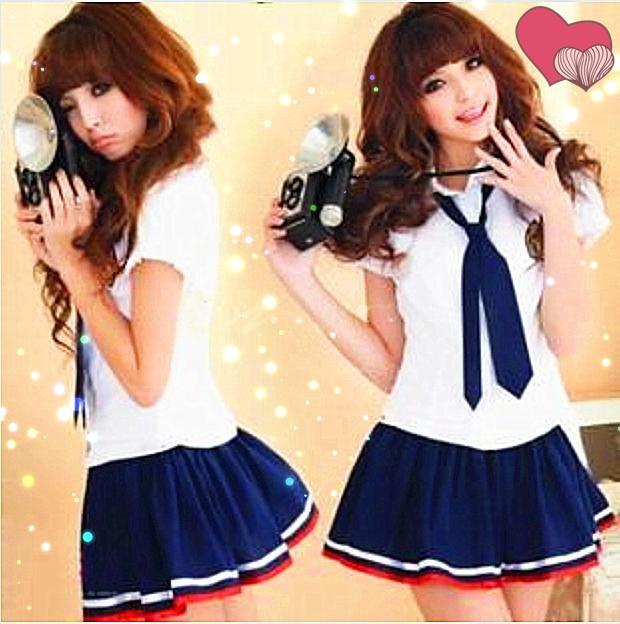 Japanesekorean School Uniforms Sailor Mavy Short Sleeve -1304