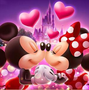 DIY diamond painting Cross Stitch Disn mouse couple Full Drill square Diamond Embroidery Mosaic Christmas Minnie Mickey Gif(China)