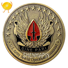 US Army Special Operations Command Commemorative Coin Sine Pari Coins Collectibles United States Army Honor Challenge Coin pari