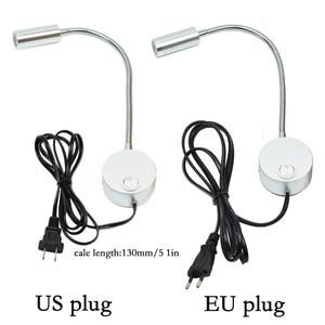 Image 3 - 2PCS 3W LED Wall Lamps Children Reading Lamp Bedside Lighting AC90 260V Aluminum 360 Degree Rotating + switch and EU US Plug