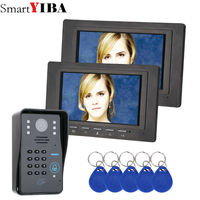 SmartYIBA 7 Inch Video Intercom IR Night Vision RFID Access Door Camera LED Monitor Doorbell Intercom Security Door Phone kits